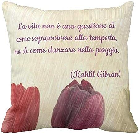 Pillow Pillow Cuscino Personalizzato Kahlil Gibran Poeta Poesia