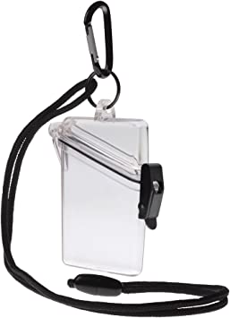 Witz See it Safe Waterproof ID//Badge Holder Case Clear