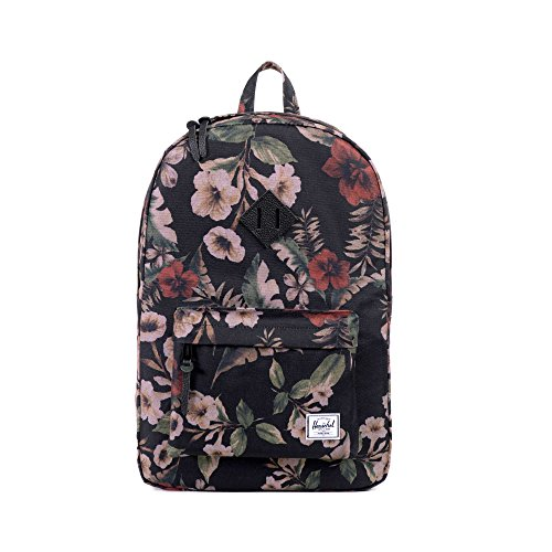 Herschel Supply Co. Heritage Backpack, Hawaiian Camo/Black Leather, One Size