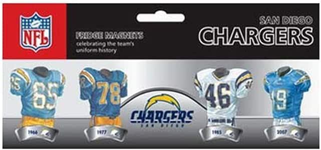 Amazon Com Nfl San Diego Chargers 4 Pack Uniform Magnet