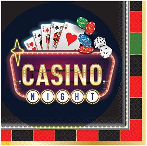 16 Ct. Casino Party Beverage Napkins