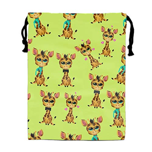 (Cute Giraffe Baby Drawstring Bag Sequin Party Favors Backpack Gift for Girl)