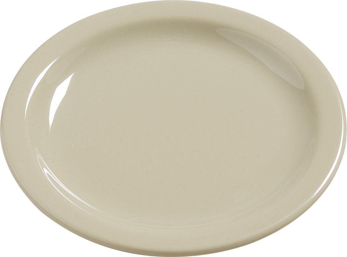 7 Carlisle 4385405 Dayton Melamine Salad Plates Set of 48 Red