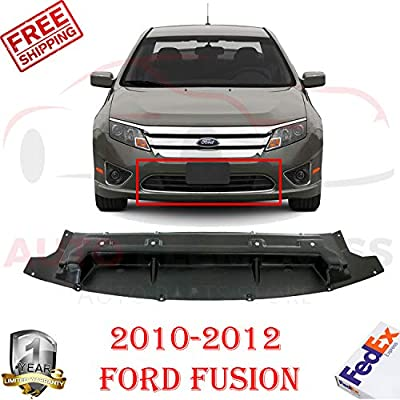 New Front Bumper Lower Valance Air Deflector for 2010-2012 Ford Fusion Hybrid/Sel/Se/S/Sport Sedan 4-Door Direct Replacement Textured Plastic AE5Z8327B FO1228114: Automotive