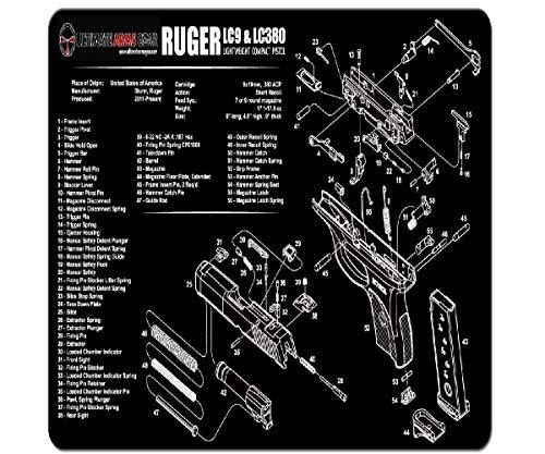 Ultimate Arms Gear Gunsmith & Armorer's Cleaning Work Tool Bench Gun Mat For Ruger LC9 LC-9 LC380 LC-380 Lightweight Light Weight Compact Pistol Handgun