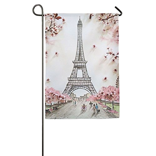 OJMDIY Garden Flag Yard Decorations - Eiffel Tower Flag For Outdoor Use,100% Waterproof Polyester Flags
