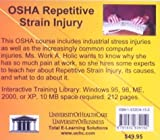OSHA Repetitive Strain Injury