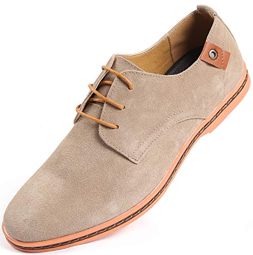 Marino Suede Oxford Dress Shoes for Men - Business Casual Shoes (Hazel Wood, 9.5) - Casual Mens Shoes Oxford