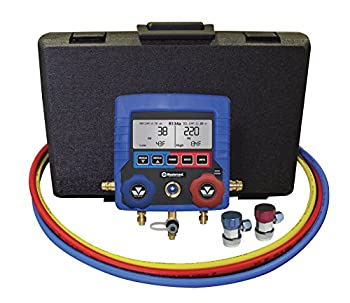 """Mastercool (99860-A) Blue R134A Digital Manifold Gauge with 60"""" Hose and Manual Coupler"""