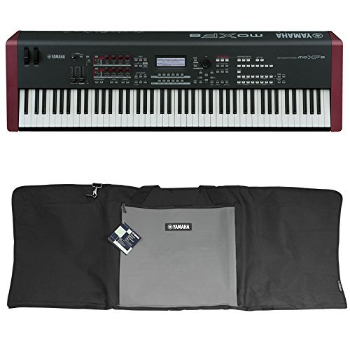 Package: Yamaha MOXF8 88 Key Workstation Keyboard w/MOX8 + Motif XF8 Sound & Effects Library Built In, and Built In Sequencer for Recording + Yamaha YBA881 88-Note Nylon Soft Keyboard Travel Bag