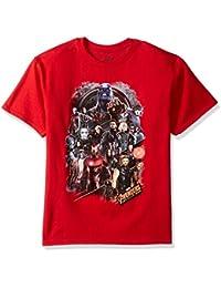 Boys' Avengers Infinity War Character Group Short Sleeve...