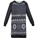 Fiaya Merry Christmas Family Matching Christmas Dress Sweater Sweatshirt Parent-Child Outfits (Women, M)