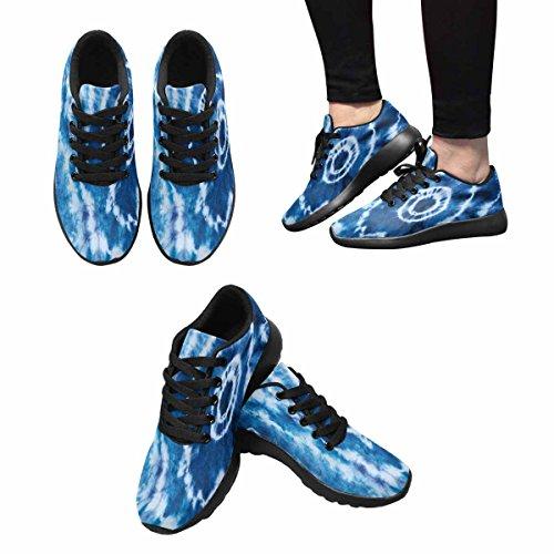 Interestprint Mujeres Casual Soft Sports Road Running Zapatos Para Caminar Indigo Tie Dye Pattern Multi 1
