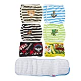 SET - 4pcs Lillypet® Dog Puppy Diaper Washable MALE Belly Band for Small and Medium Dog Random Colors S