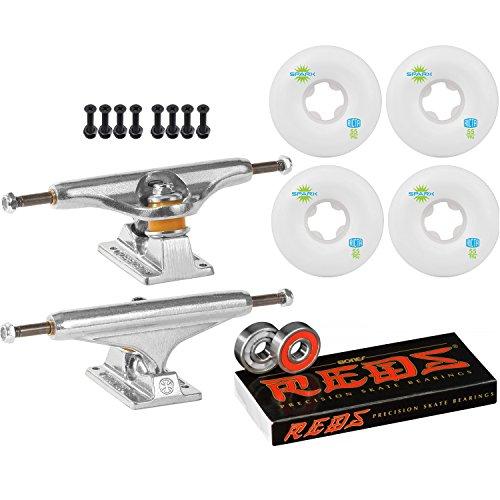 ほこりっぽいアミューズメントたるみIndependentスケートボードキット149 Trucks Ricta Sparx Mini印刷55 mmホイールReds