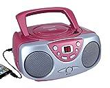 Sylvania Portable Cd Player & AM/FM Radio Mega Bass Reflex Boombox Sound System
