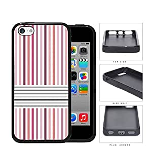 Pink And Gray Parallel Lines Rubber Silicone TPU Cell Phone Case Apple iPhone 5c