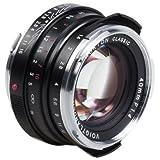 Voigtlander–nokton 40mm f/1.4Objetivo Gran Angular Leica M Mount fijo, color negro