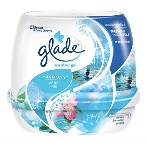 Sugared Passion Fruit (Glade Scented Gel - Harmony Air Freshener 6.42 Oz/180g is a decorative air freshener that provides 30 days of Non-Fade Freshness(by send you happiness))