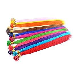 DENIYA Synthetic I Tip Keratin Fusion Hair Extensions Various Color 5G/Strand 50 Strands/Pack Keratin Tip Stick Hair…