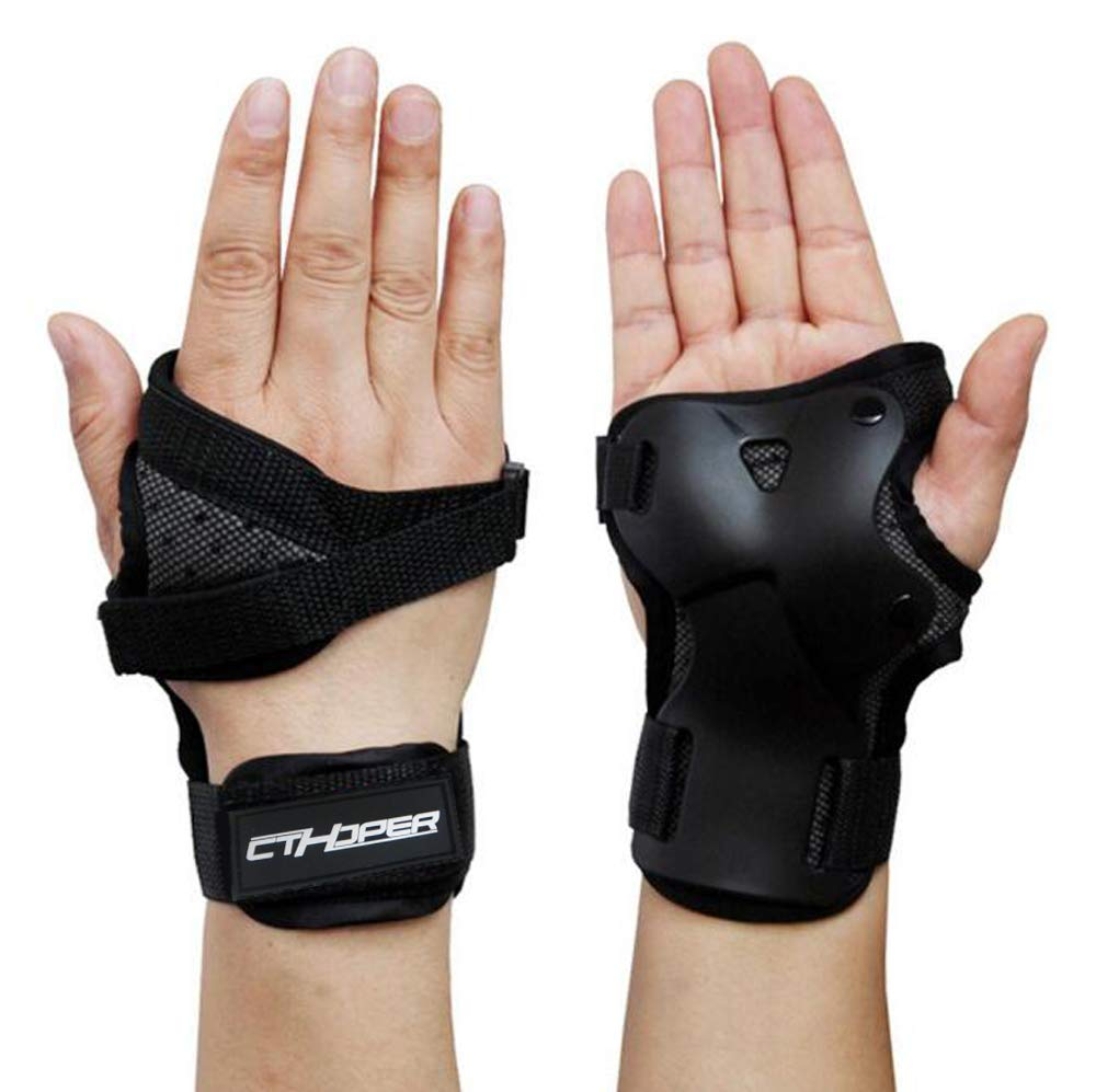 CTHOPE Impact Wrist Guard Protective Gear Wrist Brace Wrist Support for Skating Skateboard Skiing Snowboard Motocross Multi Sport Protection (M) by CTHOPER