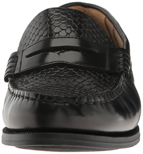 Snake Leather Sebago Plaza II Women's Loafer Black Embossed Black pwxaUCxqr0