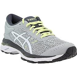 Asics Womens Gel-kayano 24 Glacier Greywhitecarbon Running Shoe - 10