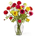 Nearly-Natural-1102-Gerber-and-Ranunculus-Liquid-illusion-Silk-Flower-Arrangement-Mixed