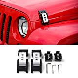 RTTCZ-Stainless-Steel-Latch-Locking-Hood-Catch-Kit-20072017-Jeep-Wrangler-JK-JKU-Silver