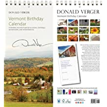 Donald Verger All Vermont Birthday Anniversary Perpetual Calendars - Gifts for Valentines Day, Mothers Day, Xmas & Holidays for Him, Her, Women, Men, Husband, Wife, Mom, Dad - Updated 2014