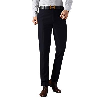 BOZEVON Pantalones de Traje de Negocios para Hombres - Oficina de ...