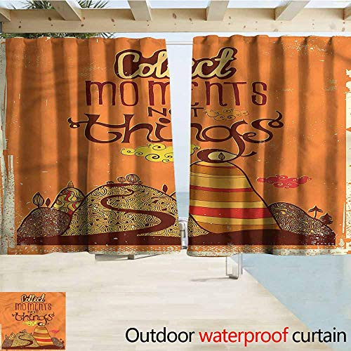 MaryMunger Outdoor Blackout Curtains Quote Abstract Hills Curvy
