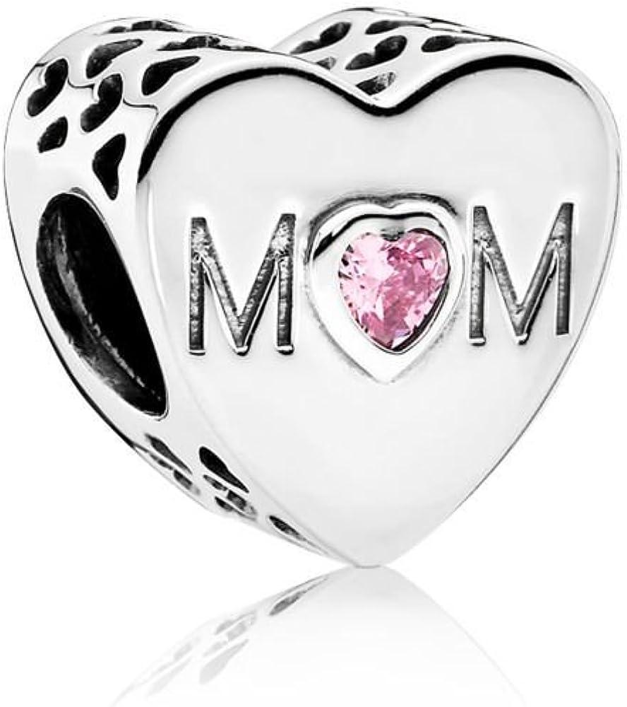 charm pandora rosa di mamma