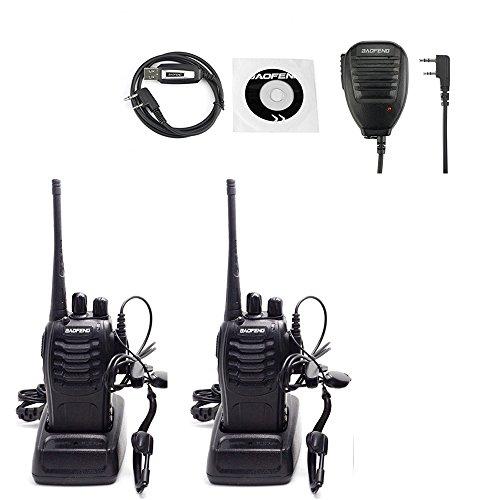 Baofeng 888S Two Way Radios Walkie Talkies Handheld Radios Long Range Security Radios(Pack of 2) by Baofeng