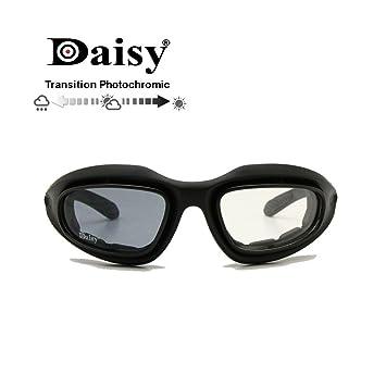 EnzoDate Daisy One C5 Dirt Militar ATV Gafas de Transición Polarizadas 4 Lens Kit Deportes al Aire Libre Motociclismo Gafas Juego de Guerra Gafas de ...