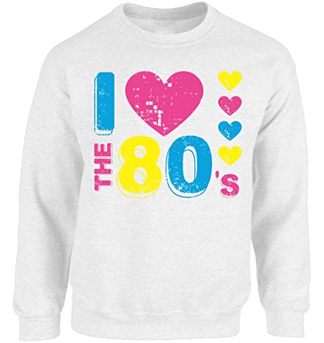 * NEW * Unisex I Love The 80's Crewneck Sweatshirt - 9 Colors - S to 5XL