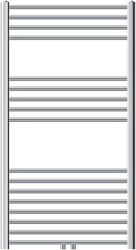 ECD Germany Radiador toallero el/éctrico de toallas 750 x 1500 mm Cromo Dise/ño curvado con conexi/ón lateral Secador de toallas 1200W