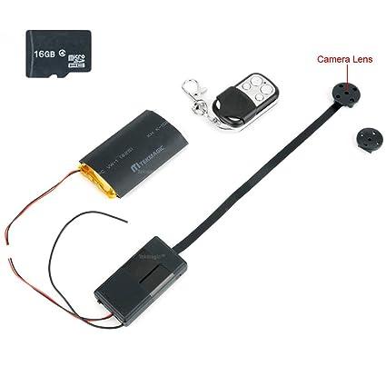 TEKMAGIC Botón de Cámara Espía 16GB Mini Videocámara Detección de Movimiento 1920x1080P HD Apoyar la Carga