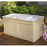 Outdoor Deck Box Patio Storage,99 Gal.Resin, Light Taupe