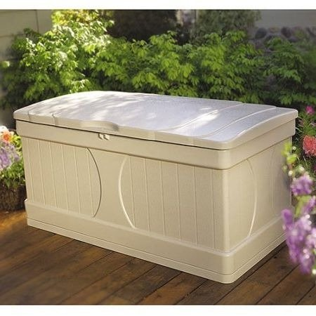 Outdoor Deck Box Patio Storage,99 Gal.Resin, Light Taupe by Outdoor Deck Box (Image #2)