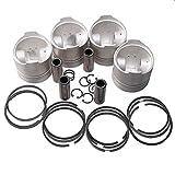 zt truck parts Piston & Piston Ring Set STD 76mm for Kubota V1305 Engine