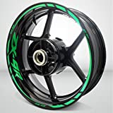Reflective Green Motorcycle Rim Wheel Decal Accessory Sticker for Kawasaki ZX9R