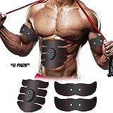 Abdominal Muscle Toner ABS Trainer Exerciser Toning Belt Fitness EMS Stimulator Body Workout Gear for Abdomen/Arm/Leg/Core Portable Unisex Training Equipment