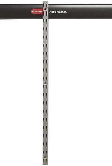 Rubbermaid Fast Track Garage Storage System Upright Rail 25quot 1784365