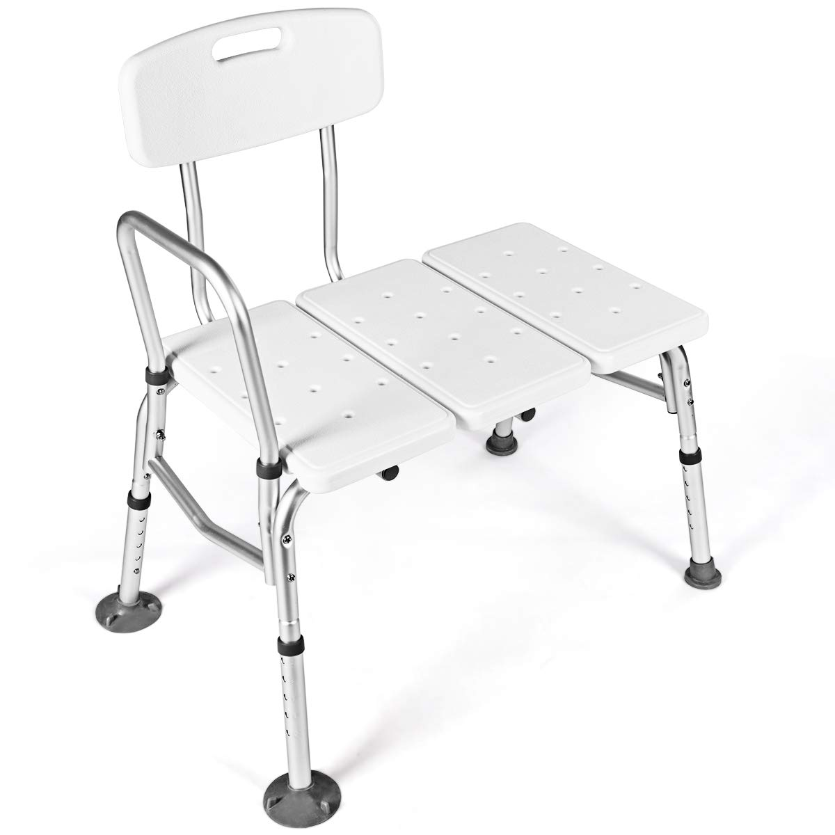 Giantex Tub Transfer Bench for Elderly W/Adjustable Arm,Back and Leg Height for Medical Bathroom Bathtub Stool Chair Shower Seat Bench