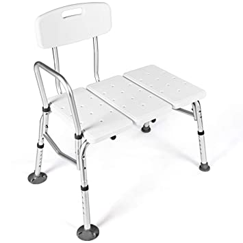 Giantex Tub Transfer Bench for Elderly W/Adjustable Arm,Back and Leg Height  for Medical Bathroom