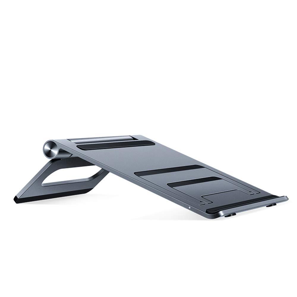 Zhihui Lapdesks ZZHF diannaozhijia Soporte Plegado para portátil, Soporte de Plegado Soporte para portátil de aleación de Aluminio Portátil de Tres velocidades Ajustable 52e016