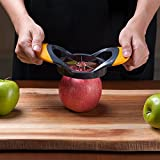 Deiss ART Apple Slicer & Corer Set — Cutter, Wedger, Divider — Razor-sharp Stainless Steel Blades with Ergonomic Non-Slip Handles — Durable Construction — Dishwasher Safe
