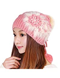 Korean women's hat/Wool Hat/ lovely warm hat/ ear knit hat