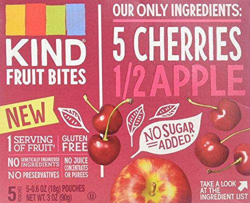 Kind Fruit Bites 5 Cherries 1/2 Apple (5 - 6 Ounce Fruit Pouches)